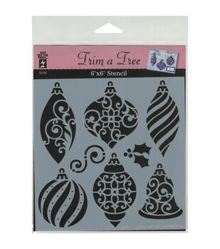 Hot Off The Press Christmas Ornaments Stencils Small