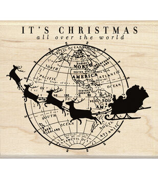 Inkadinkado® Mounted Rubber Stamp-It's Christmas