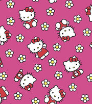 Sanrio Hello Kitty Flower Flannel Fabric, , hi-res