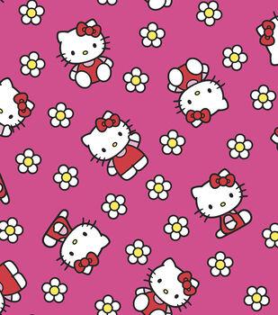 Sanrio Hello Kitty Flower Flannel Fabric