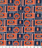 Auburn NCAA Herringbone Cotton Fabric, , hi-res