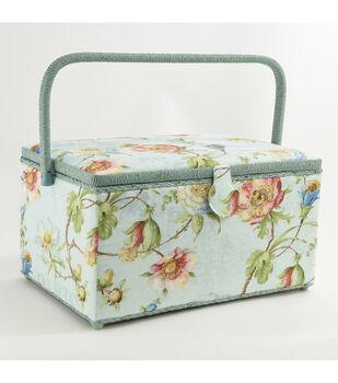 Fw21 Sew Basket Xl Rect Blue Floral