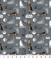 Character Cotton Star Wars Cotton Fabric - Rey In Iron, , hi-res