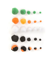 Fab Lab™ Halloween Pom Poms 300pk Assorted, , hi-res