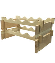 Fab Lab™ Unfinished Wood Wine Rack, , hi-res