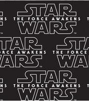 Star Wars VII Logo Black Cotton Fabric, , hi-res