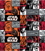 Star Wars VII Characters In Squares Fleece Fabric, , hi-res