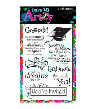 Dare 2B Artzy Graduation Clear Stamps