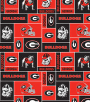 University of Georgia NCAA Block Fleece Fabric, , hi-res