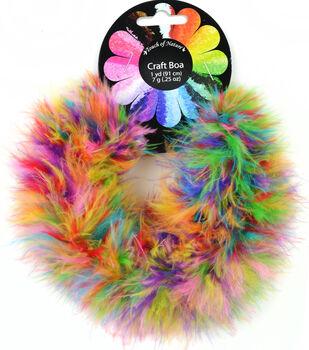 Feather Fluffy Craft Boa 7 gram 1 yard-Bubble Gum Balls 1 piece