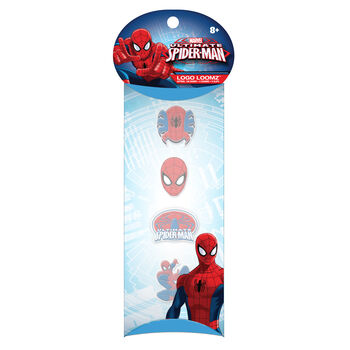 Forever Collectibles Logo Loomz Charm Pack Marvel Comics Spiderman