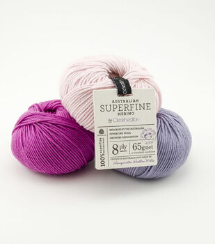 Australian Superfine Merino by Cleckheaton 8ply Yarn