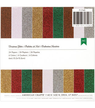 American Crafts Christmas Glitter Paper Pad