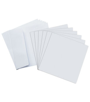 Core'dinations Card/Envelopes:  5.5x5.5 White; 50 pack