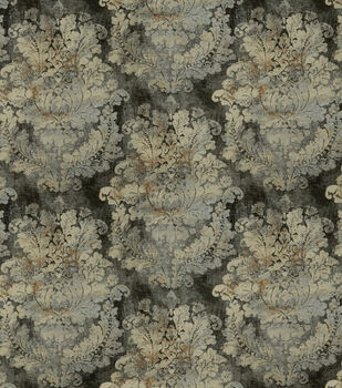 Covington Upholstery Fabric-Grand Damask Cindersmoke 949