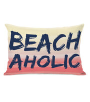 Escape To Paradise 14''x20'' Pillow-Beachaholic, , hi-res