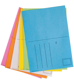 """Mighty Bright Make&Mail Postcards 4""""x5-1/2"""" 25/Pkg-Assorted Bright Colors"""