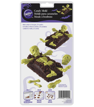 Wilton® Cookie & Candy Mold-20 Cavity Skeleton Bones