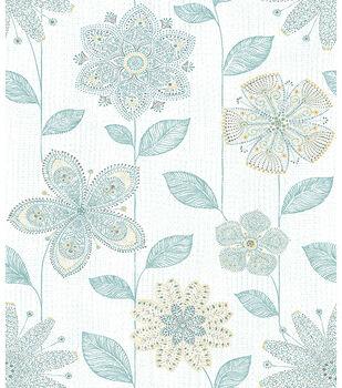 WallPops® NuWallpaper™ Batik Floral Peel and Stick Wallpaper