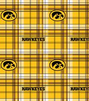 University of Iowa NCAA Plaid Fleece Fabric, , hi-res