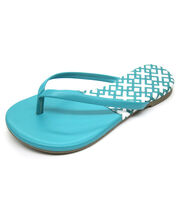 Escape to Paradise Women's Flip Flops-Teal, , hi-res