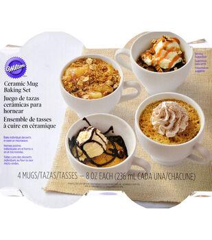 Wilton® Ceramic Mug Baking Set 4pcs-White