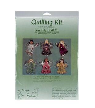 Lake City Craft Quilling Kit-6PK/Christmas Angels