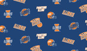 University of Illinois at Urbana Champaign NCAA All-over Fleece Fabric, , hi-res
