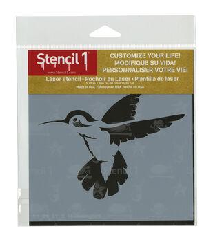Stencil 1 Hummingbird Stencil 5.75''x6''