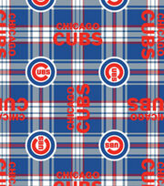 Chicago Cubs MLB Plaid Fleece Fabric, , hi-res
