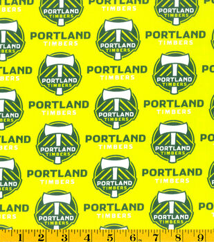 Portland Timbers MLS Cotton Fabric
