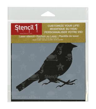 Stencil 1 Bird Silhouette 5 Stencil 5.75''x6''