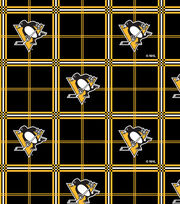 Pittsburgh Penguins NHL Plaid Flannel Fabric, , hi-res
