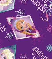 Disney Frozen Sisters Fleece Fabric, , hi-res