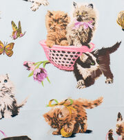 Alexander Henry Cotton Fabric-What's New Pussycat Light Blue, , hi-res