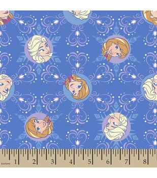 Disney Frozen Winter Magic Snowflake Corduroy Fabric