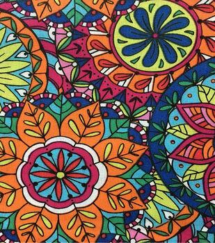 Keepsake Calico™ Cotton Fabric-Coloring Book Mandala
