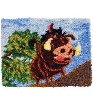 """MCG Textiles Disney Dreams Latch Hook Kit Pumbaa 27"""" x 20"""""""