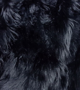 Fashion Faux Fur Fabric-Black Husky