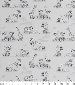 Nursery Cotton Fabric-Safari Friends