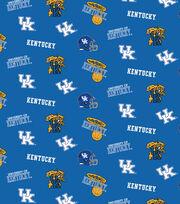 University of Kentucky NCAA Blue All-over Cotton Fabric, , hi-res