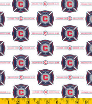 Chicago Fire Soccer Club MLS Cotton Fabric, , hi-res
