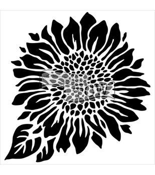 Crafter's Workshop 6''x6'' Template-Joyful Sunflower