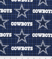 Dallas Cowboys NFL Plaid Flannel Fabric by Fabric Traditions, , hi-res