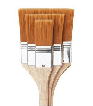 "All Purpose Large Area Brush Set 1"", 2"", 3""-Brown Nylon"