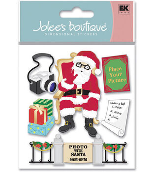 Jolee's Boutique Dimensional Stickers-Picture's With Santa