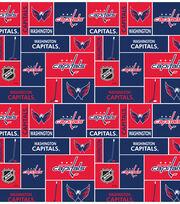 Washington Capitals  NHL Block Cotton Fabric, , hi-res