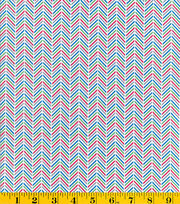 Made In America Cotton Fabric-Chevron Blue, , hi-res
