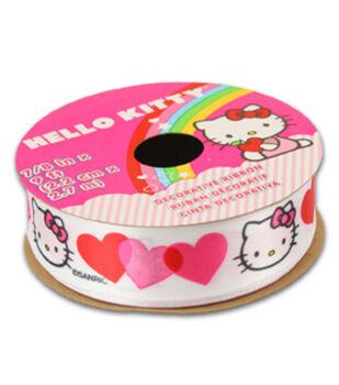 Hello Kitty Valentines Ribbon-Tri Color Heart