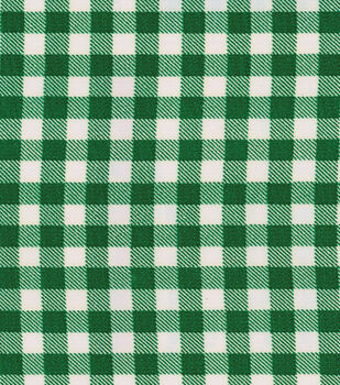 """OilCloth-Bottle Green Gingham-12 yard Roll, 48"""" Wide"""